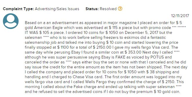 Is Nationwide Coin And Bullion A Scam review 2
