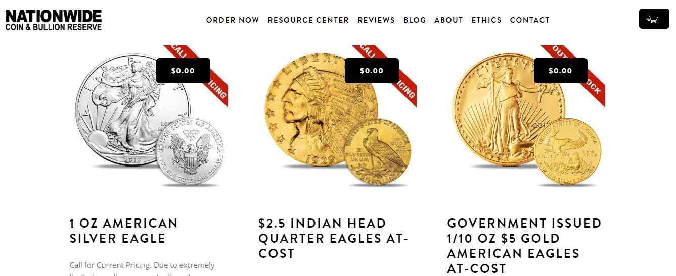 Is Nationwide Coin And Bullion A Scam website homepage