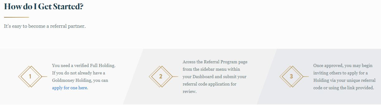 Goldmoney Review Referral Program