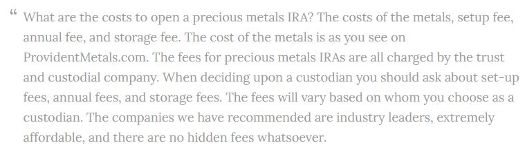 Is Provident Metals Legit IRAs